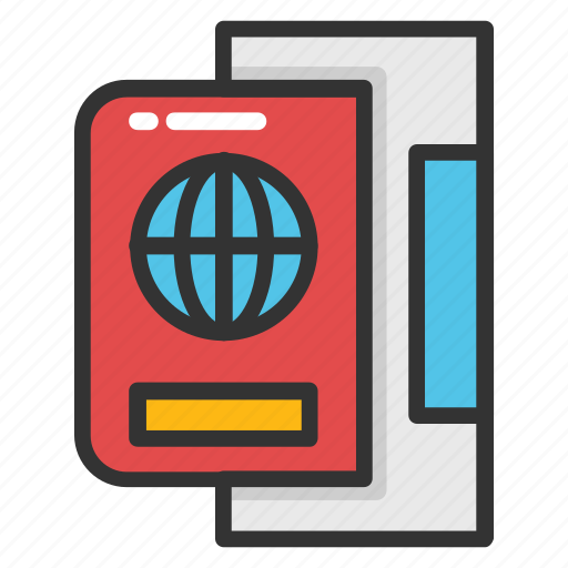 boarding pass, international passport, passport, travel, visa icon