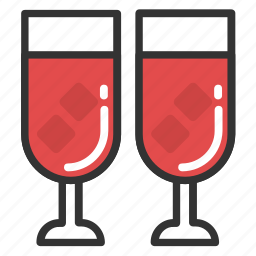 alcohol, beer, champagne, whiskey, wine icon