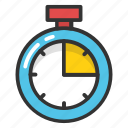 chronometer, clock, pocket watch, stopwatch, timer icon