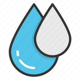 droplet, drops, raindrop, raining, water drops icon
