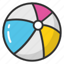 ball, beach ball, parachute ball, pool toy, swimming pool ball icon