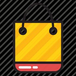 hand bag, packaging bag, recyclable bag, reusable shopping bag, tote handbag icon