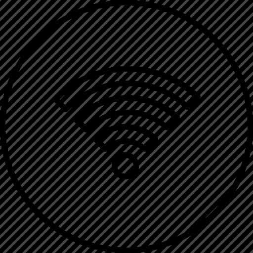 Hotel Internet Restaurant Signal Wifi Wireless Icon