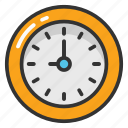 clock, round shape clock, time, timer, wall clock icon