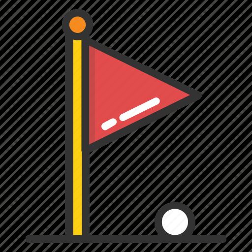 Golf club, golf flag, golf hole, golf pin, golf theme icon - Download on Iconfinder