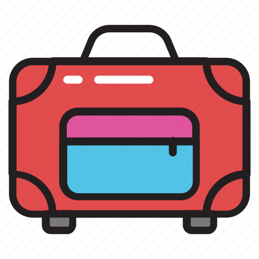 attache case, baggage, luggage, suitcase, traveling bag icon