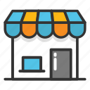 kiosk, shop, store, street shop, web store icon