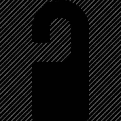 door, hanger, hotel, label, sign, tag icon