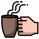 coffee, cup, drink, hand, mug
