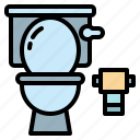hotel, toilet, bathroom, plunger, wc, flush