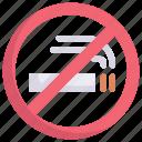 holiday, traveling, sign, resort, no smoking, vacation, hotel icon