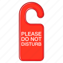 cartoon, do, door, hotel, private, red, sign icon