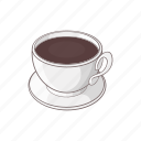 breakfast, brown, cafe, cartoon, coffee, cup, mug icon
