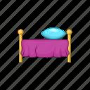bed, bedroom, cartoon, furniture, hotel, pillow, sleep