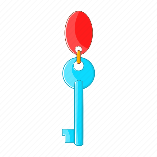 access, cartoon, hotel, key, ring, room, security icon