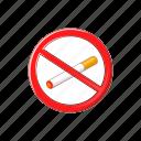 cartoon, cigarette, no, sign, smoke, tobacco, warning