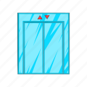 cartoon, doorway, down, elevator, floor, lift, up