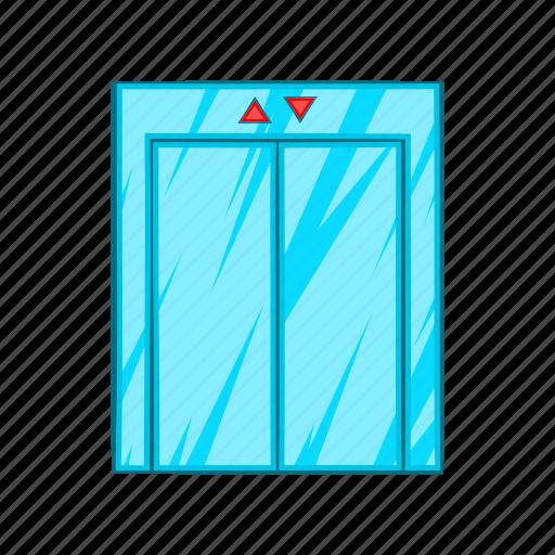 cartoon, doorway, down, elevator, floor, lift, up icon