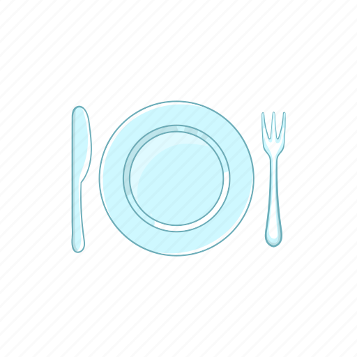 cartoon, cutlery, dishware, empty, knife, silverware, utensil icon