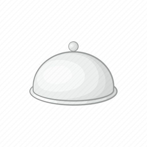 cartoon, cloche, dish, food, meal, restaurant, tray icon