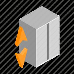 doorway, down, elevator, entrance, floor, lift, up icon