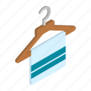 cloth, hanger, isometric, neat, object, scarf, stylish icon