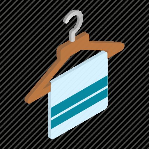 cloth, hanger, isometric, neat, object, scarf, stylish icon