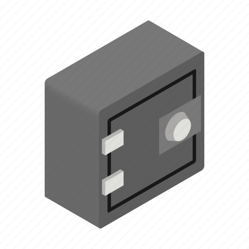 bank, finance, isometric, protection, safe, safety, wealth icon