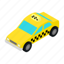 automobile, car, isometric, service, taxi, transport, vehicle