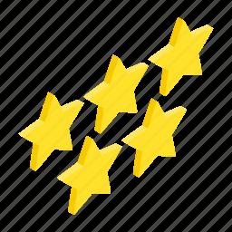 award, gold, golden, isometric, shape, star, success icon