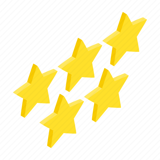 award, gold, golden, isometric, shape, star, success icon