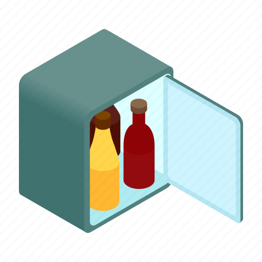cold, cool, cooler, freezer, fridge, isometric, refrigerator icon