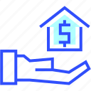 booking, hotel, mortgage, near, suite, vacation icon