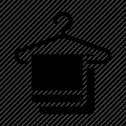 Bathroom, hanger, hotel, service, towel icon - Download on Iconfinder
