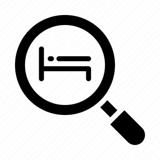 find, hotel, search, service icon