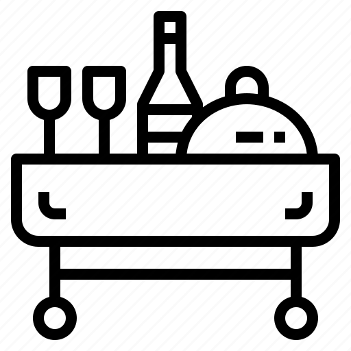cart, hotel, meal, room, service icon