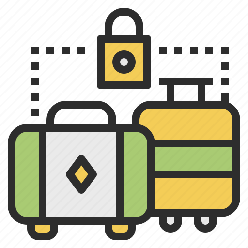 lock, luggage, safety, storage icon