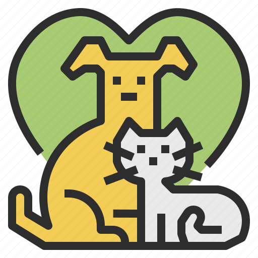 allowed, cat, dog, friendly, pet icon