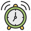alarm, call, clock, up, wake icon