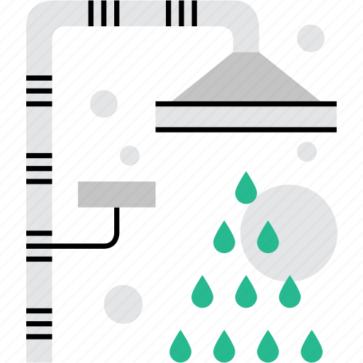 bathroom, hygienics, morning, shower, sign icon