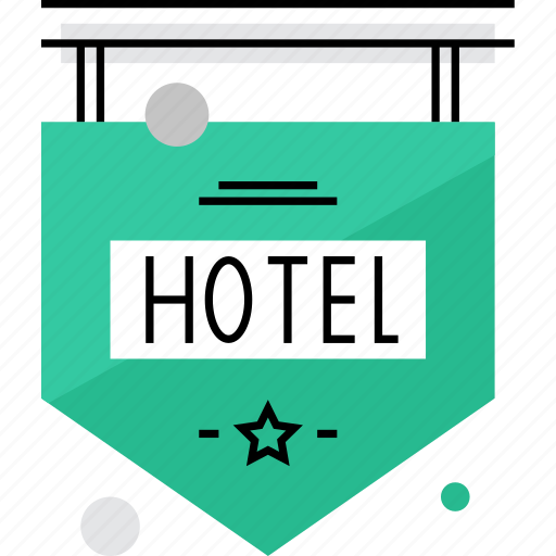 board, hotel, pointer, service, sign, signboard, travel icon