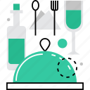 alochol, bar, dinner, drinks, food, meal, restaurant icon