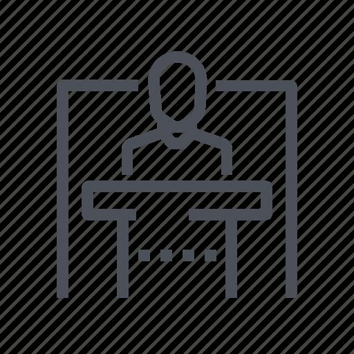 building, conference, hotel, interior, room icon