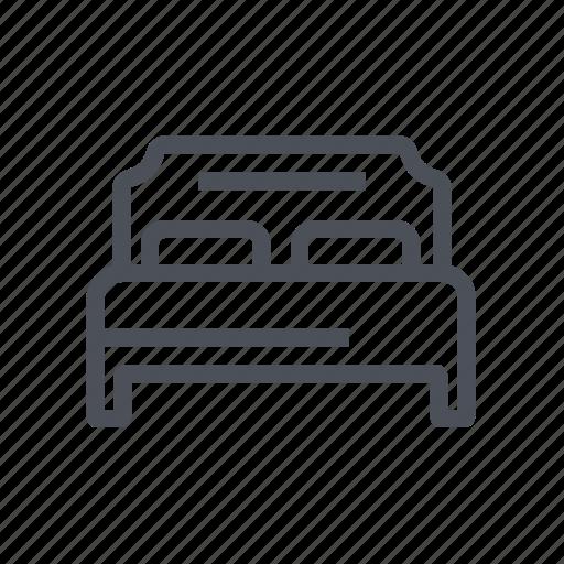 bed, bedroom, belongings, double, furniture, rest icon