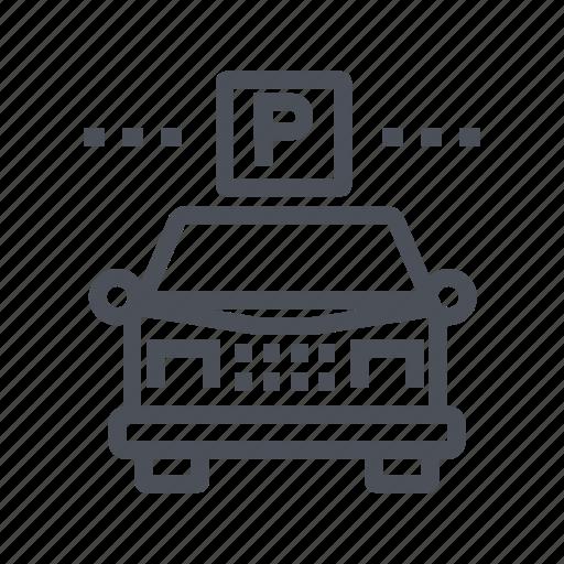 automobile, car, garage, guest, parking icon