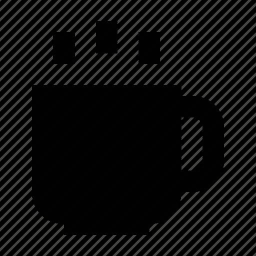 coffee mug, hot coffee, hot drink, hot tea, tea mug icon