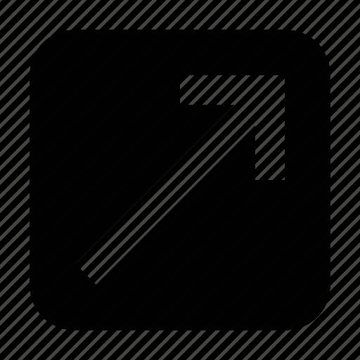 arrow, directional arrow, right arrow, up arrow, up right arrow icon
