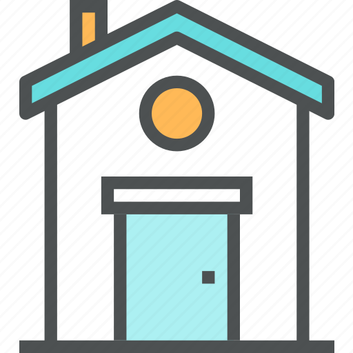 apartment, building, estate, home, house, motel, small icon