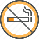 cigarette, forbidden, no, prohibition, smoke, smoking, tobacco icon