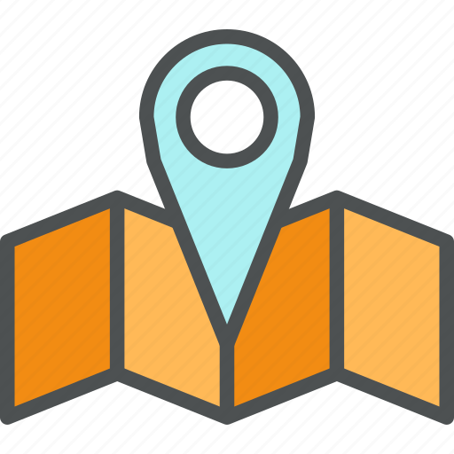 destination, location, map, mapping, mark, navigation, pin, travel icon
